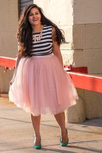 Pink Plus Size Tulle Skirt