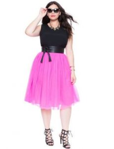 Pink Tulle Skirt Plus Size