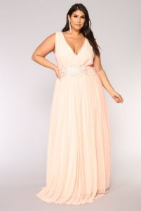 Plus Size Blush Maxi Dress
