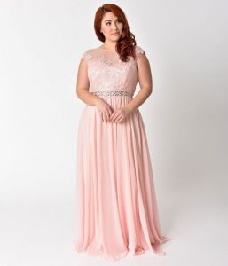 Plus Size Blush Maxi Dresses