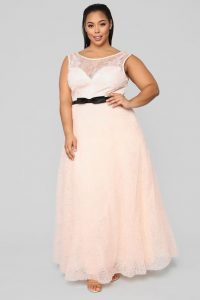 Plus Size Blush Maxi Gown