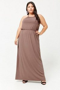 Plus Size Casual Halter Maxi Dress