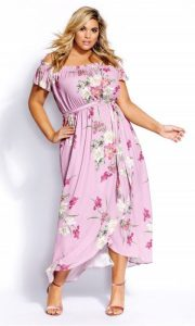 Plus Size Cotton Floral Maxi Dress