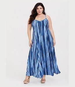 Plus Size Cotton Maxi Dress