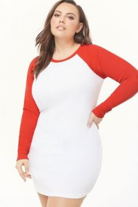 Plus Size Cotton Tee Shirt Dress