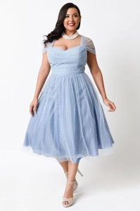 Plus Size Light Blue Dress