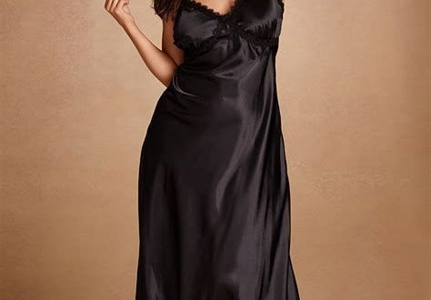 Plus Size Long Satin Nightdresses