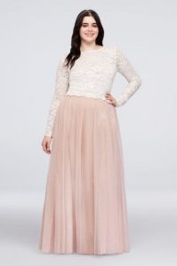 Plus Size Long Tulle Skirts