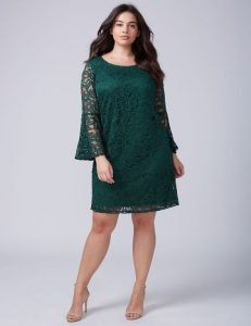 Plus Size Shift Dress With Sleeves