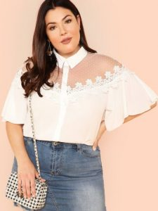 Plus Size Summer Crop Tops