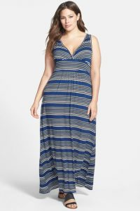 Plus Size Tee Shirt Maxi Dress