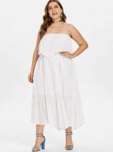 Plus Size Tube Flowy Dress