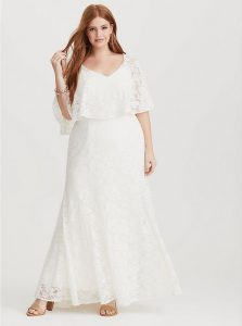 Plus Size White Lace Maxi Dresses