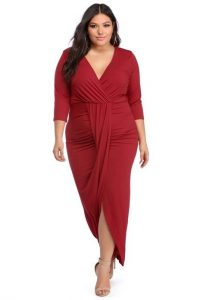 Plus Size Wrapped Around Dress