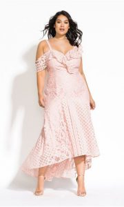 Plus Sized Blush Maxi Dress