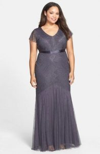 Plus Sized Gray Formal Dresses