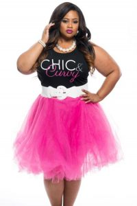 Plus Sized Pink Tulle Skirt