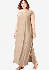 Plus Sized T-shirt Maxi Dress