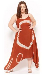 Plus Sizes Cotton Maxi Dress