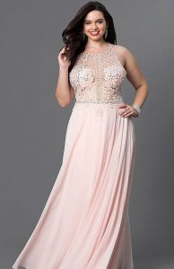 Prom Dress In Blush Pink