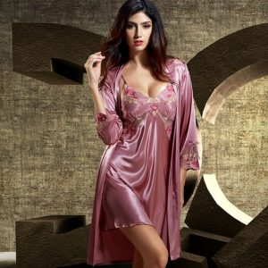 Satin Robe Set And Nightgowns