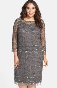 Sequin Plus Size Shift Dress
