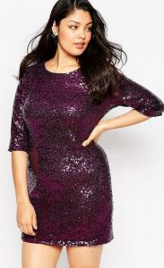 Sequin Shift Dress Plus Size