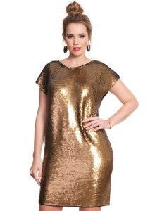 Sequin Shift Dress Plus Sized