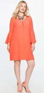 Shift Dress With Sleeves Plus Size