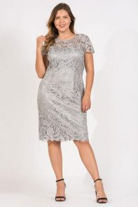 Silver Lace Formal Dresses