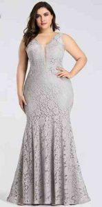 Silver Lace Prom Dresses