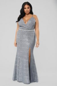 Sleeveless Silver Prom Dresses