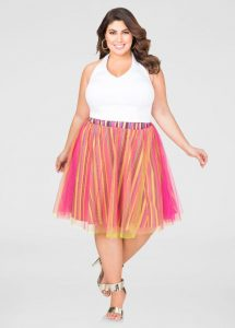 Striped Pink Tulle Skirts