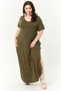 T-shirt Maxi Dress With Side Slits