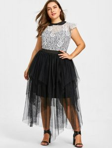 Tiered Tulle Skirts In XL