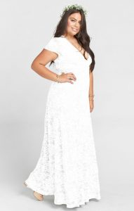 Wedding White Lace Dress Plus Size