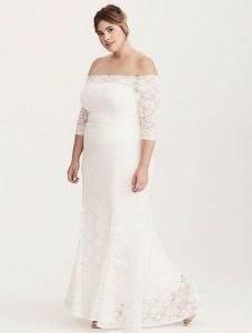 White Lace Maxi Gown Plus Size