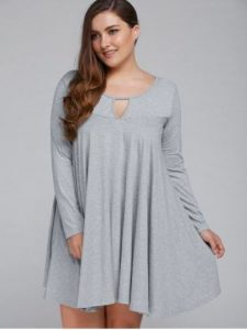 Women's Plus Size Cotton T shirt Dress