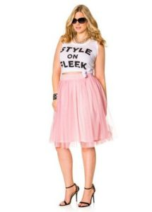 Women's Plus Size Pink Tulle Skirt