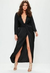 Women's Satin Wrap Dress