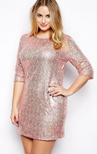 Women's Sequin Shift Dress Plus Size