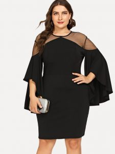 Black Party Dress For Curvy