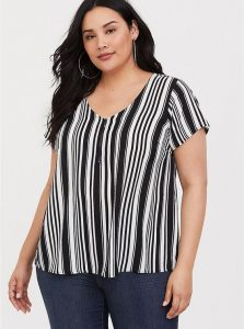 Black and White Vertical Striped Shirts