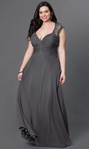 Empire Waist Semi Formal Dress