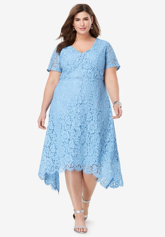 Handkerchief Lace Dress In XL