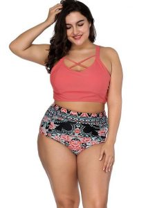 High Waist Swim Shorts Plus Size