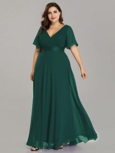Plus Size Empire Waist Formal Dress