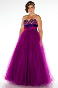 Plus Size Empire Waist Formal Gown