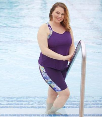 Plus Size Long Leg Swim Shorts