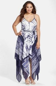 Plus Size Maxi Handkerchief Dress